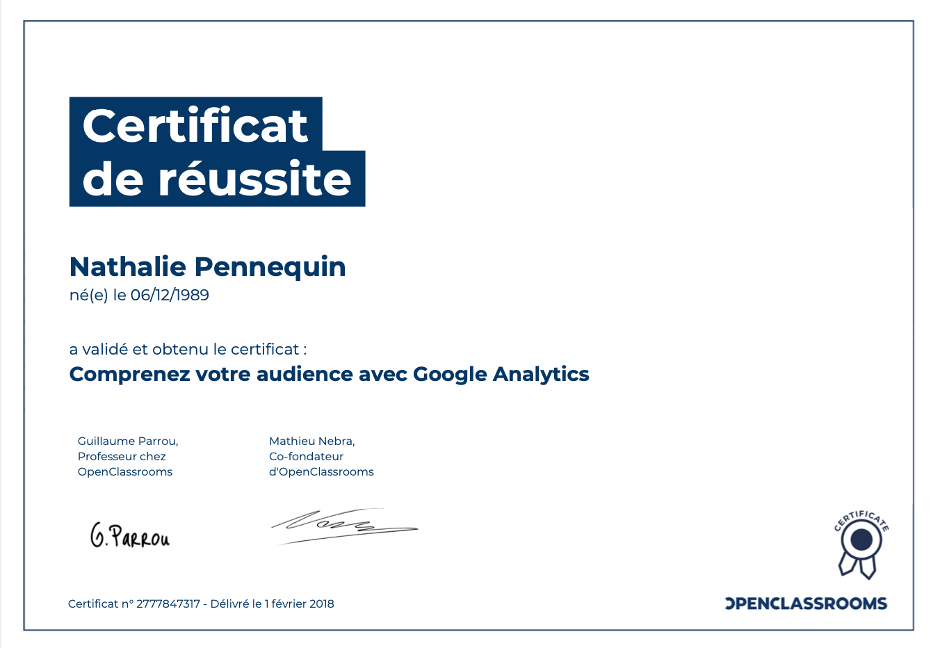 Comprenez votre audience avec Google Analytics